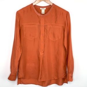 Sundance Tops - Sundance Orange Silk Popover Tunic Sz XS